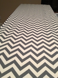 A little dizzying, but I love chevron stripes.