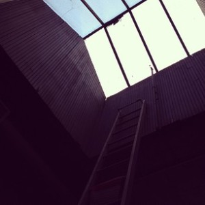 I'm ready to climb up this ladder and out of my office. Yes, my office has a skylight.