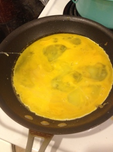 No, I have no earthly idea why I took a picture of eggs for you, like you don't know what eggs in a frying pan should look like.