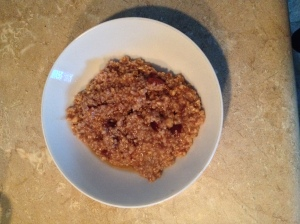 I know, isn't oatmeal so homey/homely?